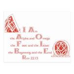Soy el alfa y la Omega Tarjeta Postal