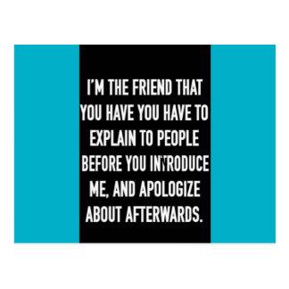 soy el amigo que usted tiene que explicar y postal