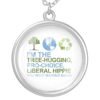 Soy el árbol-abrazo, hippie proabortista, liberal  colgante redondo