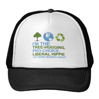 Soy el árbol-abrazo, hippie proabortista, liberal  gorros bordados