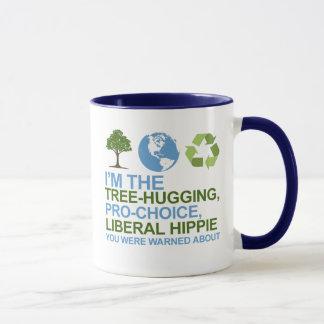 Soy el árbol-abrazo, hippie proabortista, liberal taza