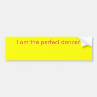 Soy el bailarín perfecto pegatina de parachoque