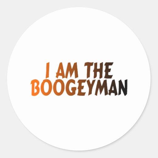 Soy el Boogeyman Pegatina Redonda