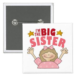 Soy el botón de la hermana grande pin cuadrado