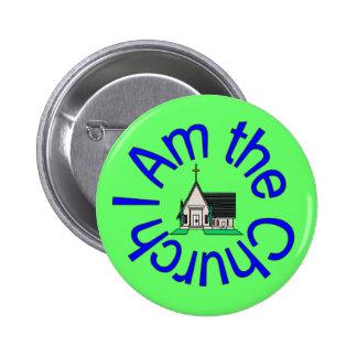 Soy el botón de la iglesia pin redondo de 2 pulgadas