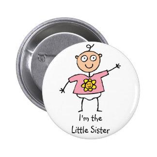 Soy el botón de la pequeña hermana pin redondo de 2 pulgadas