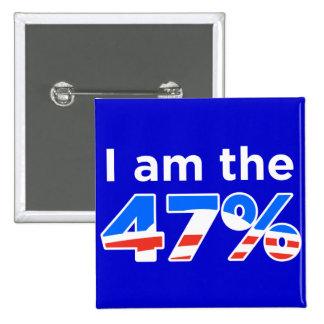 Soy el botón de Obama del 47 por ciento Pin