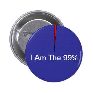 Soy el botón del 99% pin redondo de 2 pulgadas