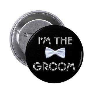 Soy el botón del novio pin redondo de 2 pulgadas