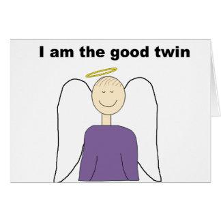 Soy el buen gemelo tarjetas