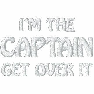 Soy el capitán. Consiga sobre él - divertido Sudadera Bordada