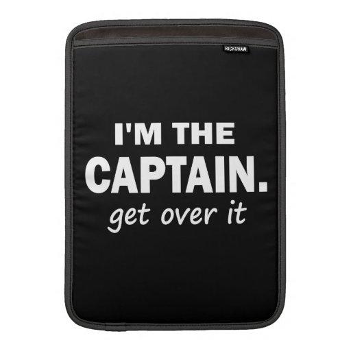 Soy el capitán. Consiga sobre él - divertido Fundas Macbook Air