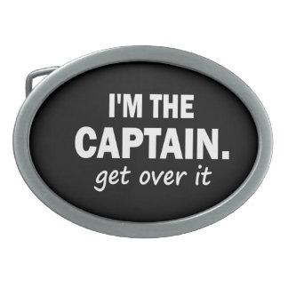 Soy el capitán. Consiga sobre él - divertido Hebillas Cinturón Ovales