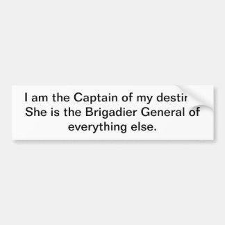 Soy el capitán de mi destino. Ella es Pegatina Para Auto