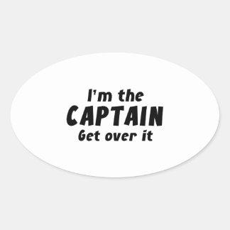 Soy el capitán Get Over It Colcomanias Óval Personalizadas
