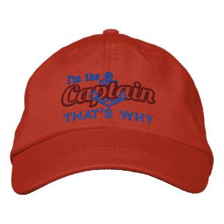 Soy el capitán que es porqué es chistoso gorra de béisbol