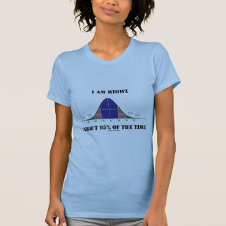 Soy el cerca de 95% derecho del humor de la curva t-shirts
