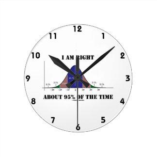 Soy el cerca de 95% derecho del humor de la curva reloj redondo mediano