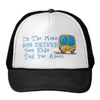 Soy el conductor del autobús malo gorros bordados