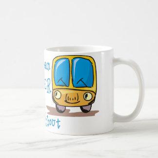 Soy el conductor del autobús malo taza básica blanca