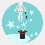¡Soy el conejo mágico! Pegatina Redonda
