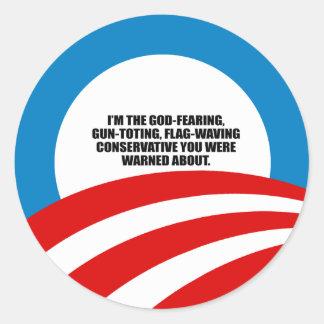 Soy el conservador temeroso de Dios Pegatina