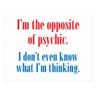 Soy el contrario de psíquico postales