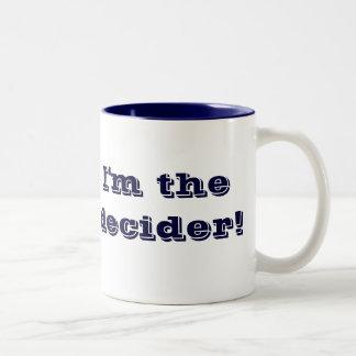 ¡Soy el Decider!  taza del tono de la marina de gu