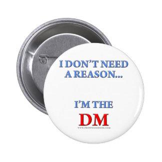 Soy el DM Pin Redondo De 2 Pulgadas