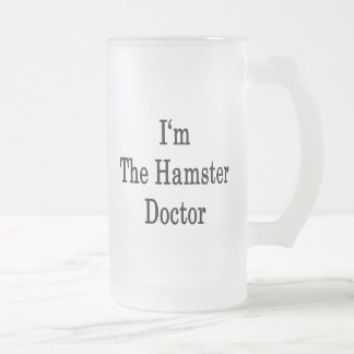 Soy el doctor del hámster taza cristal mate