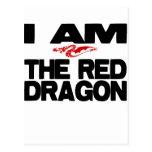 Soy el dragón rojo postales