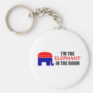 Soy el elefante en el cuarto llavero redondo tipo pin