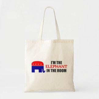 Soy el elefante en la bolsa de asas del sitio