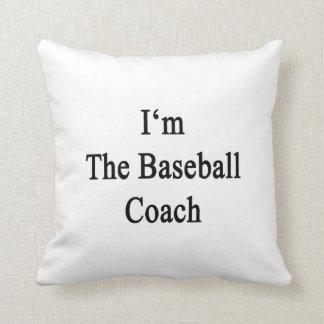 Soy el entrenador de béisbol cojin