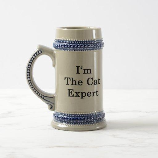 Soy el experto del gato tazas de café