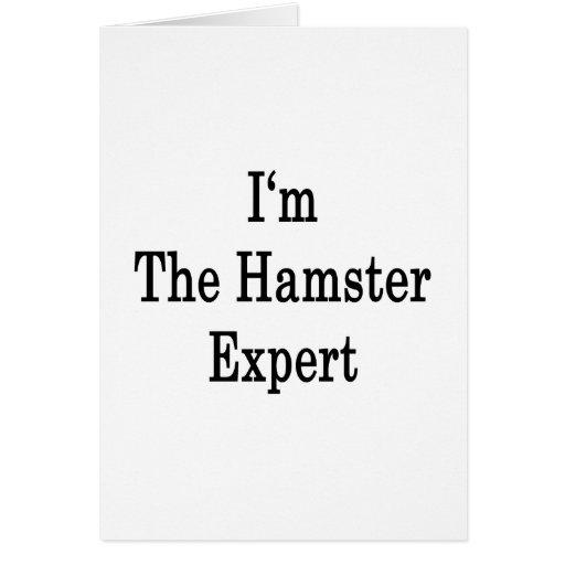 Soy el experto del hámster tarjetas