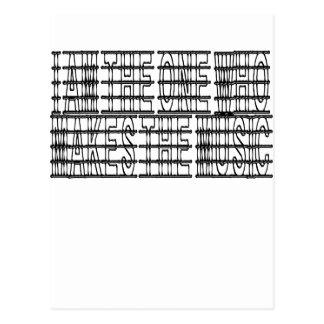 Soy el fabricante de la música tarjeta postal