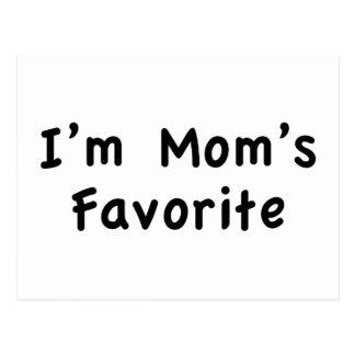 Soy el favorito de la mamá tarjetas postales