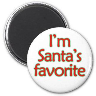 Soy el favorito de Santa Imán Redondo 5 Cm