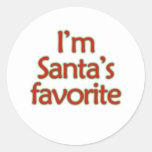 Soy el favorito de Santa Pegatinas Redondas