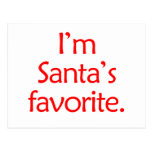 Soy el favorito de Santa Tarjeta Postal