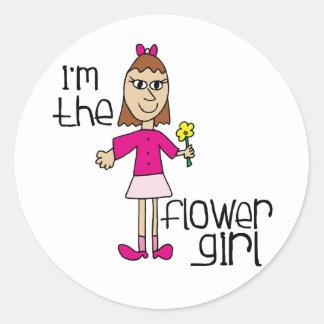 Soy el florista pegatina redonda