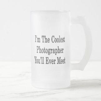 Soy el fotógrafo más fresco que usted se encontrar taza cristal mate