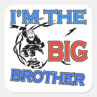 Soy el fútbol de hermano mayor pegatina cuadrada