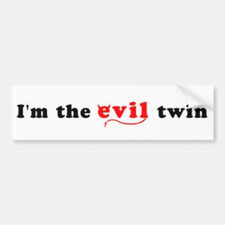 Soy el gemelo del mal pegatina para auto