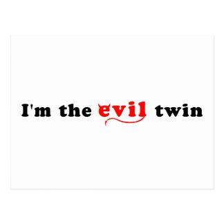 Soy el gemelo del mal postal