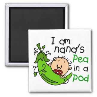 Soy el guisante de Nana en una vaina 1 Imán Cuadrado