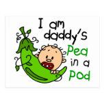 Soy el guisante del papá en una vaina 1 tarjetas postales