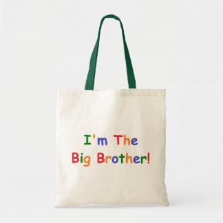 Soy el hermano mayor bolsas lienzo