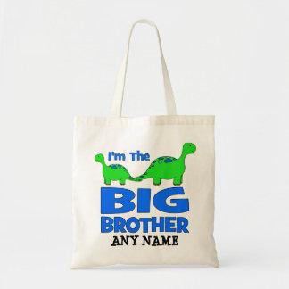 ¡Soy el hermano MAYOR! Diseño de encargo del dinos Bolsa Tela Barata